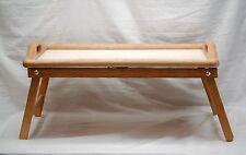 Wooden Folding TV Tray Laptop Serving Snack Table Portable w Handles Home Garden