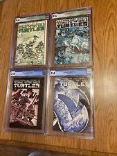 Teenage Mutant Ninja Turtles #1, 2, 3, 4, ALL 1st Print CGC 7.0, 9.4, 9.6, 9.4