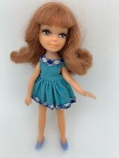 "5"" Fun Time Tiny Teen Doll Blue SHOES!, Dress Red Hair Uneeda Vintage Dawn"