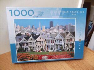 1 X KING 1992, SAN FRANCISCO USA, 1000 PIECE JIGSAW PUZZLE, BARGAIN LOW START.