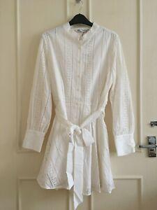Zara white embroidered dress size XL