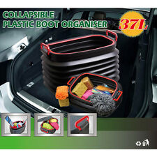 Car Trunk Storage Box Collapsible Organizer Bucket Container Fishing Bin Box 37L