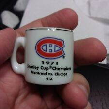 NHL Stanley Cup Crazy Mini Mug Montreal Canadians Canadiens Habs 1971 Champions