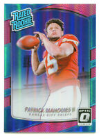 PATRICK MAHOMES 2017 Panini Donruss Optic Prizm Pink Holo Rated Rookie RC #177