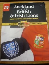 05/07/2005 Rugby Union Programme: Auckland v British And Irish Lions [At Eden Pa