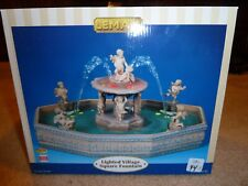 LEMAX LIGHTED VILLAGE SQUARE FOUNTAIN NEW IN BOX NIB