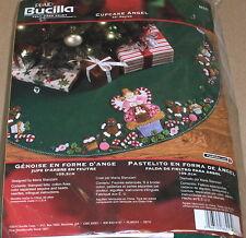 "Bucilla / Stanziani ""Cupcake Angel"" Felt / Jeweled Christmas Tree Skirt Kit NIP"