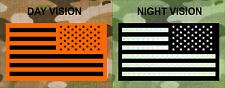 "REVERSE USA IR MB ON ORANGE solasX PATCH 3.5""X2"" WITH VELCRO® BRAND FASTENER"