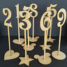 Freestanding Wooden Table Stands / Number / Heart Star Circle Wedding Craft MDF