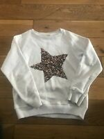 Zara Girls Sequin Star Sweatshirt Age 7-8 Years
