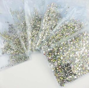 Crystal Rhinestones Ss16 Ss10 Ss20 1440pcs Ss6 Flatback Bead Nail Art Decoration
