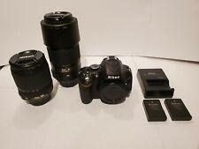 NIKON D5100 16.2MP DIGITAL SLR CAMERA 2 LENS! 18-105MM AND 55-300MM