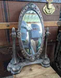 Spiegelkonsole Schminkspiegel Antik Stil Gusseisen Spiegel Konsole Glas Defekt