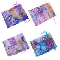 BG_ JT_ 25/50/100 Sheer Coralline Organza Jewelry Pouch Wedding Party Favor Bags