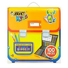 Bic Kids Writing Activity Set 100 Piece Stationery Case Colouring Stickers