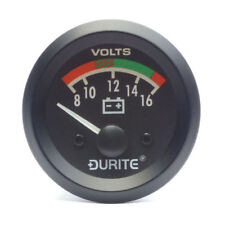 12V Illuminated Battery Condition Volt Meter Gauge  - Durite 0-523-22