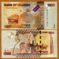 Uganda, 1000 (1,000) Shillings, 2010, Pick 49, UNC