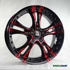 "ONE SET ONLY OX962 18x8"" Black Red Polish Alloy Wheel for some Ford Honda Kia"