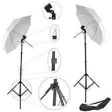 2x Kit d'éclairage Studio Trépied Douille Parapluie Sac pour Flash