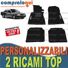 PER MERCEDES BENZ CLASSE 190 (W201) TAPPETINI per AUTO su MISURA + 2 RICAMI TOP