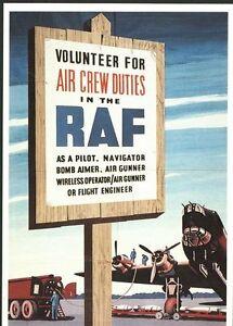 World War Two RAF Recruitment  Poster A3 / A2  Reprint