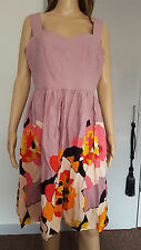 Peacocks everyday multi coloured flowery cotton dress size 14