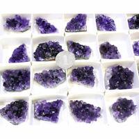 1pc Natural Amethyst Cluster Geode Crystal Quartz Specimen Mineral Reiki Healing