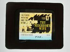 Thy Neighbors Wife 1953 glass slide - Cleo Moore - free shipping