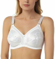 New Non Wired Bra Soft Full Cup Comfort White Sizes 36-44 B C D DD E F 592Marlon