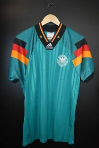 GERMANY 1992 EURO CUP AWAY ORIGINAL JERSEY Size M (VERY GOOD)
