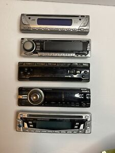 Lot of 5 Car Stereo Face Plates For Parts / Repair As Is Untested Sony JVC