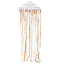 """12pcs Gold/Silver Plated Snake Chain Necklace 1MM 16"""" Wholesale"""