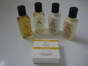 L'Occitane 5 Piece Set Jasmin & Bergamot Shower Gel Shampoo Conditioner Soap