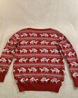 Christmas Ugly sweater Red Naughty Reindeer-Medium Unisex