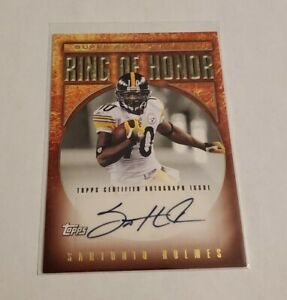 R57,866 - 2009 Topps #RH43A Ring Of Honor Autograph Santonio Holmes Steelers