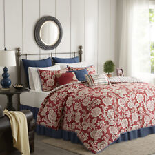Madison Park Lucy 9 Piece Cotton Twill Reversible Comforter Set
