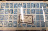GPK Garbage Pail Kids Series 15 Blue Topps Vault Sheet with CoA Americana Rare!!