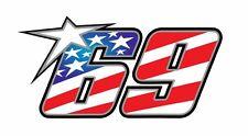 Pegatina Adhesivo Sticker 69 Nicky Hayden 12 CMS Aufkleber Autocollant
