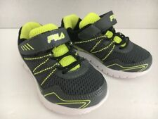 New FILA Toddler Kids Sneakers Shoes Grey/Black Size 5 1/2 M