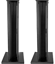 Partington Ansa 60 Speaker Stands Pair - Graphite Metal Bookshelf RRP £179.95