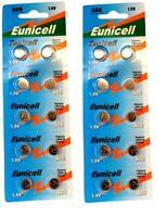 ENVOI SOUS SUIVI EUNICELL - 20 piles AG6 371A LR920 LR921 TR920 SR69 1,5 VOLT