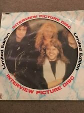 Limited Edition Metallica  Interview Picture Disc LP Vinyl Record