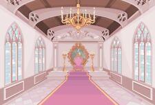 Photography Background Props Vinyl Photo Backdrop Princess Pink Castle 3x2FT