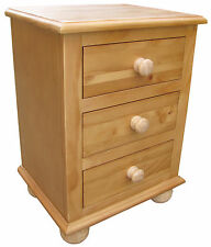 Pair of Country Pine Bedside Cabinets / Tables / Nightstand 40cm 32cm 56cm