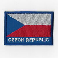 Czech Republic National Flag Iron on Patches Embroidered Applique Badge Emblem
