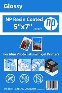5x7 Gloss Premium 200 Sheets Photo Paper 240gsm