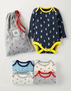 Ex Baby Boden Boys Navy Blue Penguin Red Star Bodysuits Vests x 1 Age 3 6 12 18