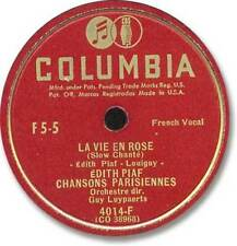 LA VIE EN ROSE EDITH PIAF 78 COLUMBIA sticker light scratches /Cest Merveilleux