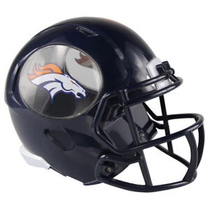 "NFL Football ABS Mini 8"" Helmet Coin Piggy Bank New Denver Broncos"