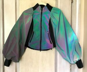 Free People Movement Color Me Happy Reflective Iridescent Jacket XS NEW